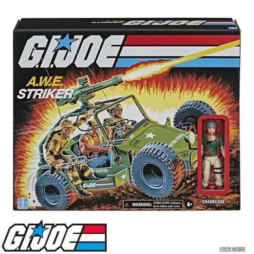 G.I. Joe Retro Collection A.W.E. Striker Toy Vehicle with 3.75-In Crankcase Figure