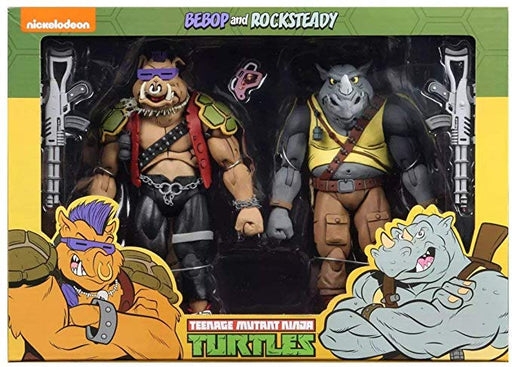 "NECA Teenage Mutant Ninja Turtles – 7"" Cartoon Series 2 Rocksteady and Bebop 2 pack"