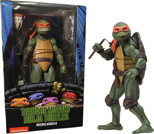 "NECA Teenage Mutant Ninja Turtles – 7"" Scale Action Figure – 1990 Movie Michelangelo"