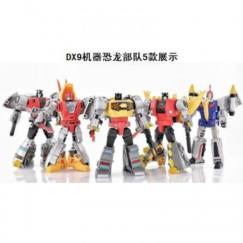 DX9 Toys War in Pocket Dinobots Set of 5 (X18 Bumper, X19 Quaker, X20 Skyer, X21 Thorner, X22 Rager)