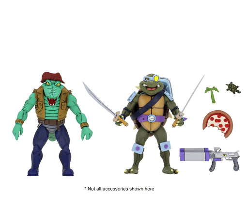 "Neca Teenage Mutant Ninja Turtles – 7"" Scale Action Figures - Cartoon Series 3 Leather Head and Slash 2-pack"