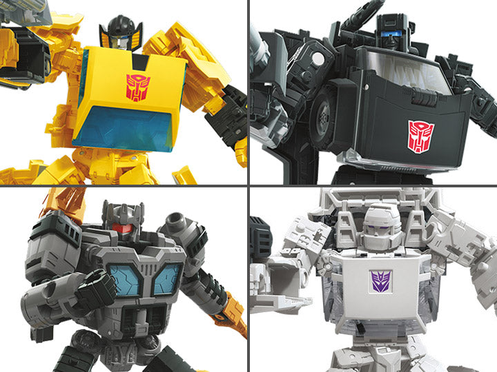 Transformers War for Cybertron: Earthrise Deluxe Wave 3 Set of 4 Figures - Sunstreaker, Trailbreaker, Runamuck and Fasttrack