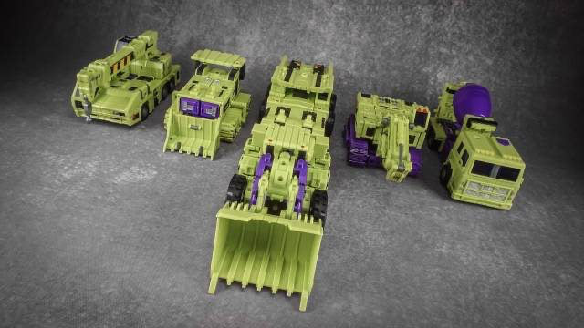 Toyworld TW TW-C07 Constructor V2 - Transformers Masterpiece MP Devastator Constructicons (Set of 6) Reissue