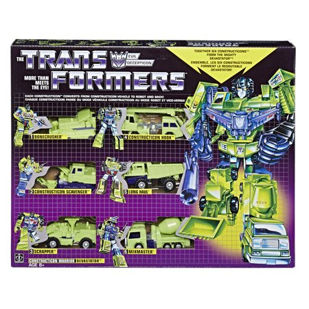 Transformers: Vintage G1 Constructicon Devastator 6-Figure Collection Pack - Walmart Exclusive