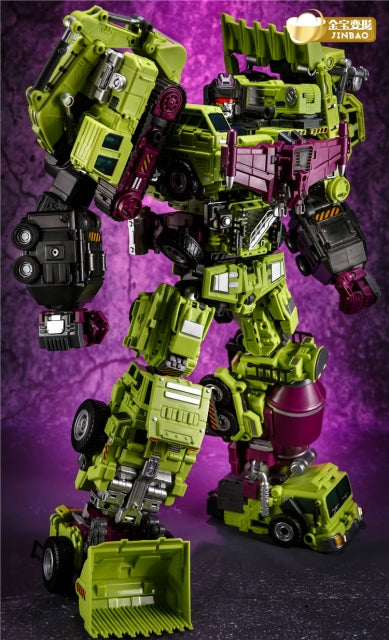 Jinbao DF-03 Oversized OS Devastator Full Set of 6 Gravity Builder BOXED