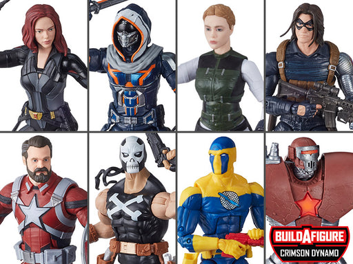 Black Widow Marvel Legends Wave 1 Set of 7 Figures (Crimson Dynamo BAF)
