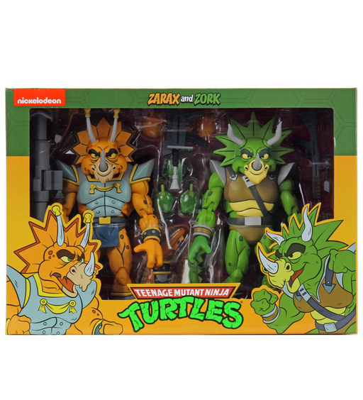 "Teenage Mutant Ninja Turtles (Cartoon) – 7"" Scale Action Figure – Captain Zarax and Zork 2 Pack"