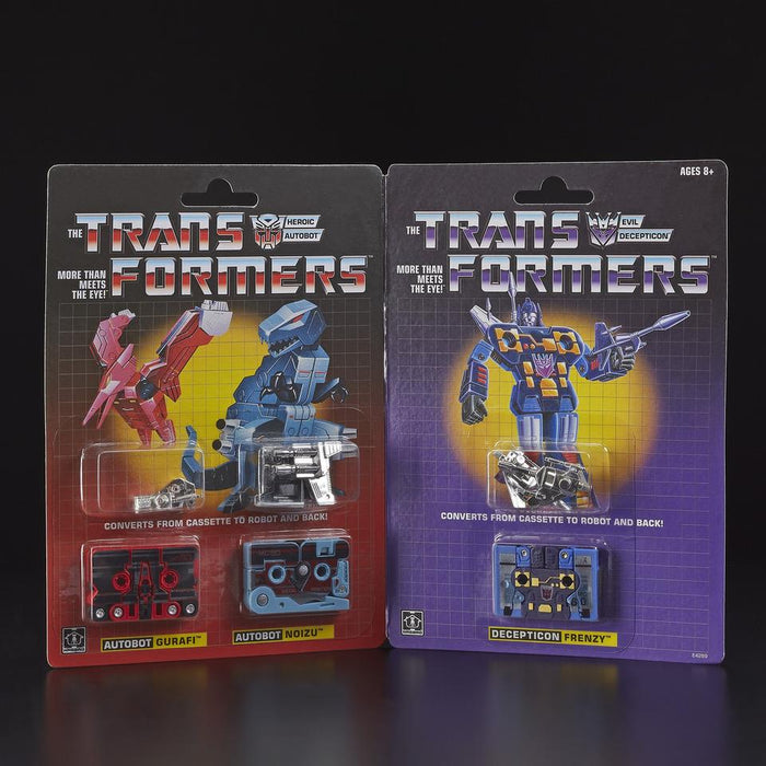 TRANSFORMERS - G1 MINI-CASSETTES 3-PACK GURAFI, NOIZU, DECEPTICON FRENZY