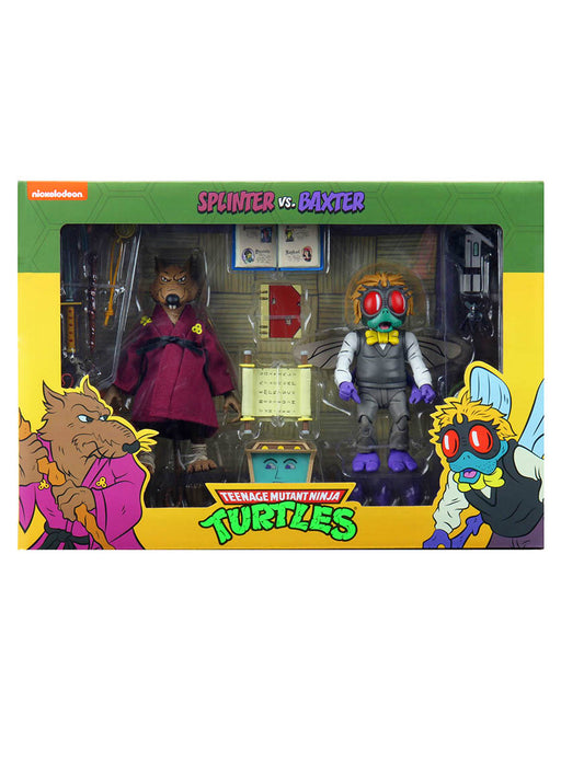 "Teenage Mutant Ninja Turtles (Cartoon) – 7"" Scale Action Figure – Splinter and Baxter 2 Pack"