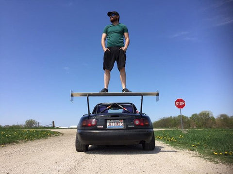 "Nine Lives Racing 64"" Wing - Miataspeed"
