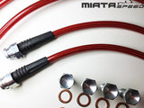 MiataSpeed Stainless Brake Lines (NA/NB) - Miataspeed