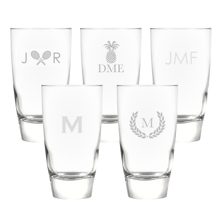 Monogrammed Highball Glasses