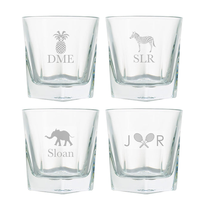 Monogrammed Rocks Glasses