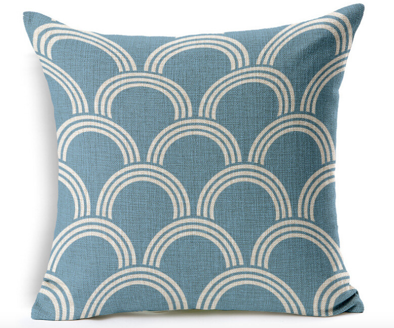 Sashiko Cloud Throw Pillows