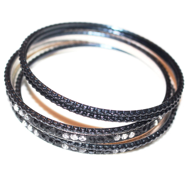 Gold and Black Bangles