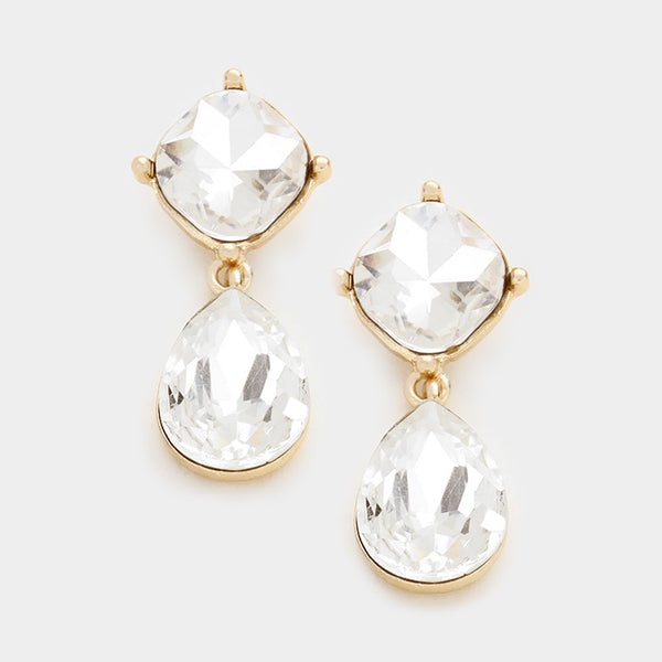 Emma Crystal Drop Earrings