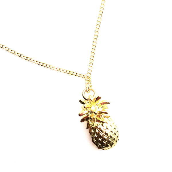 Pineapple Drop Necklace