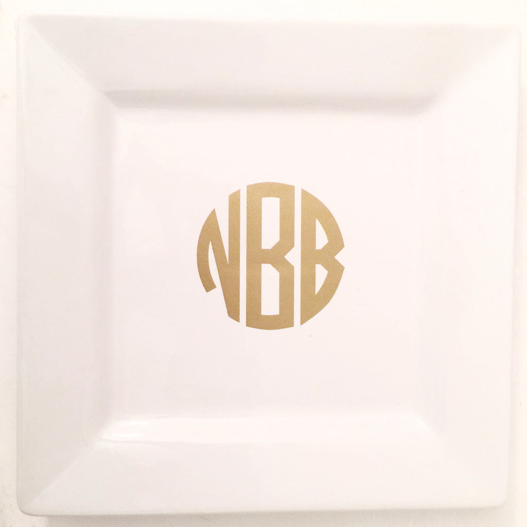 Catchall- White Bone China Personalized
