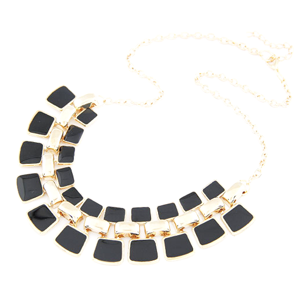 Gold Pendant Statement Necklace