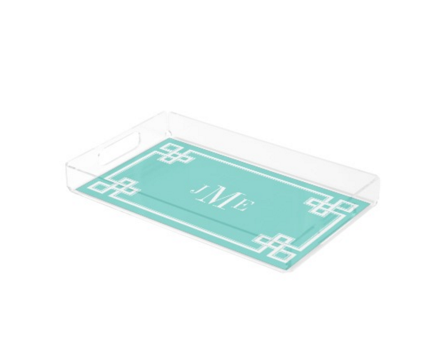Greek Key Personalized Tray