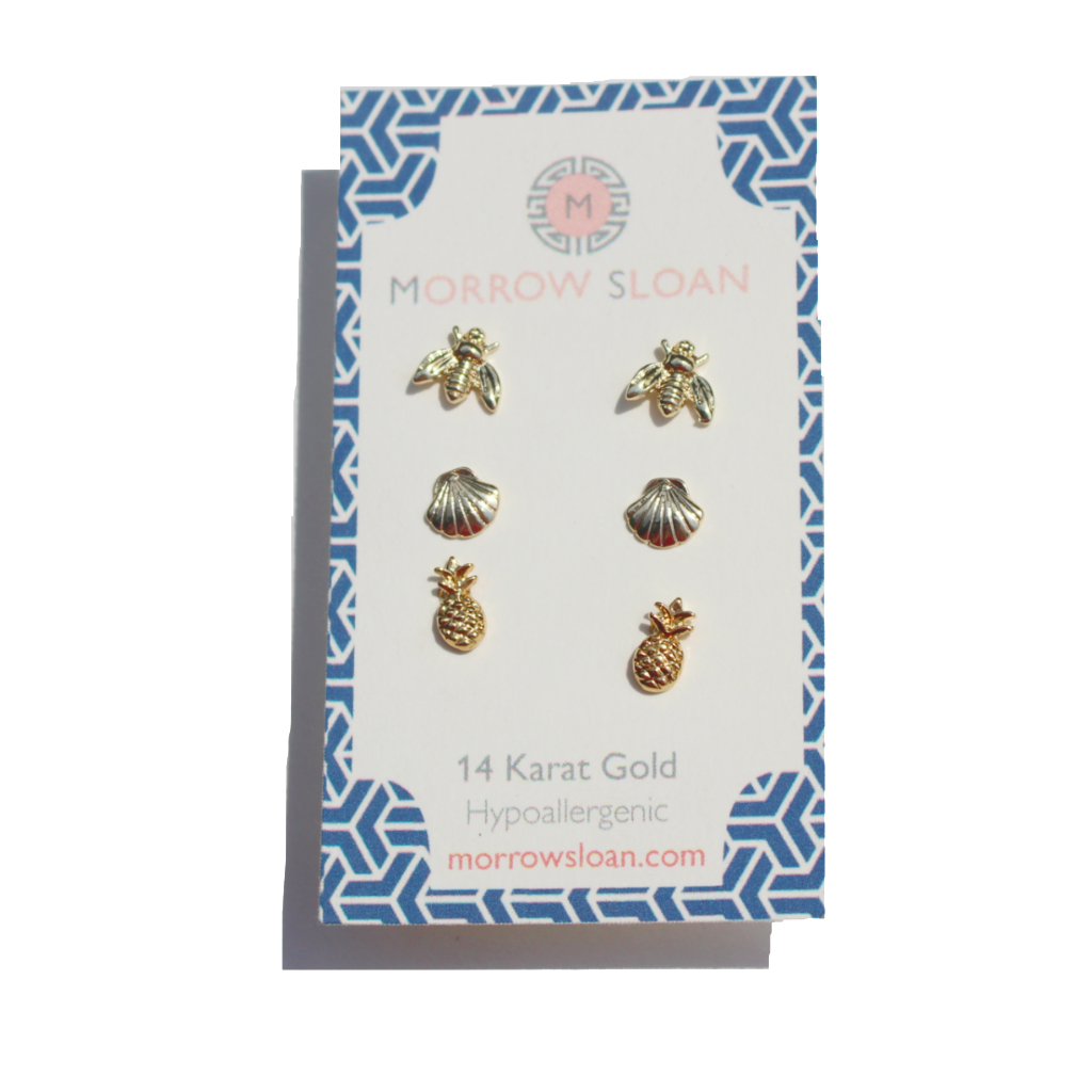 store stud jewelry handmade earring set gift real seashell
