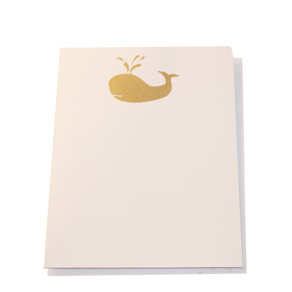 Gold Embossed Whale Stationery