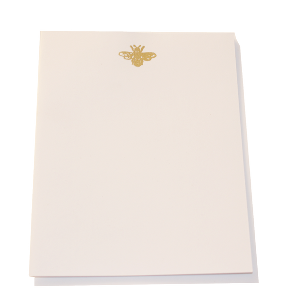 Gold Embossed Bee Stationery