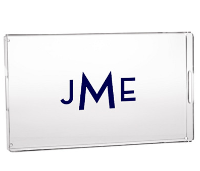 Monogrammed Serving Tray