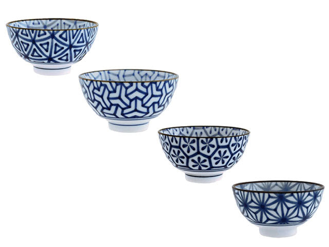 Porcelain Blue and White Bowls