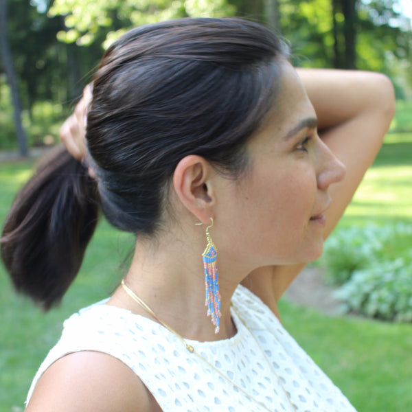 Beaded Tribal Earrings