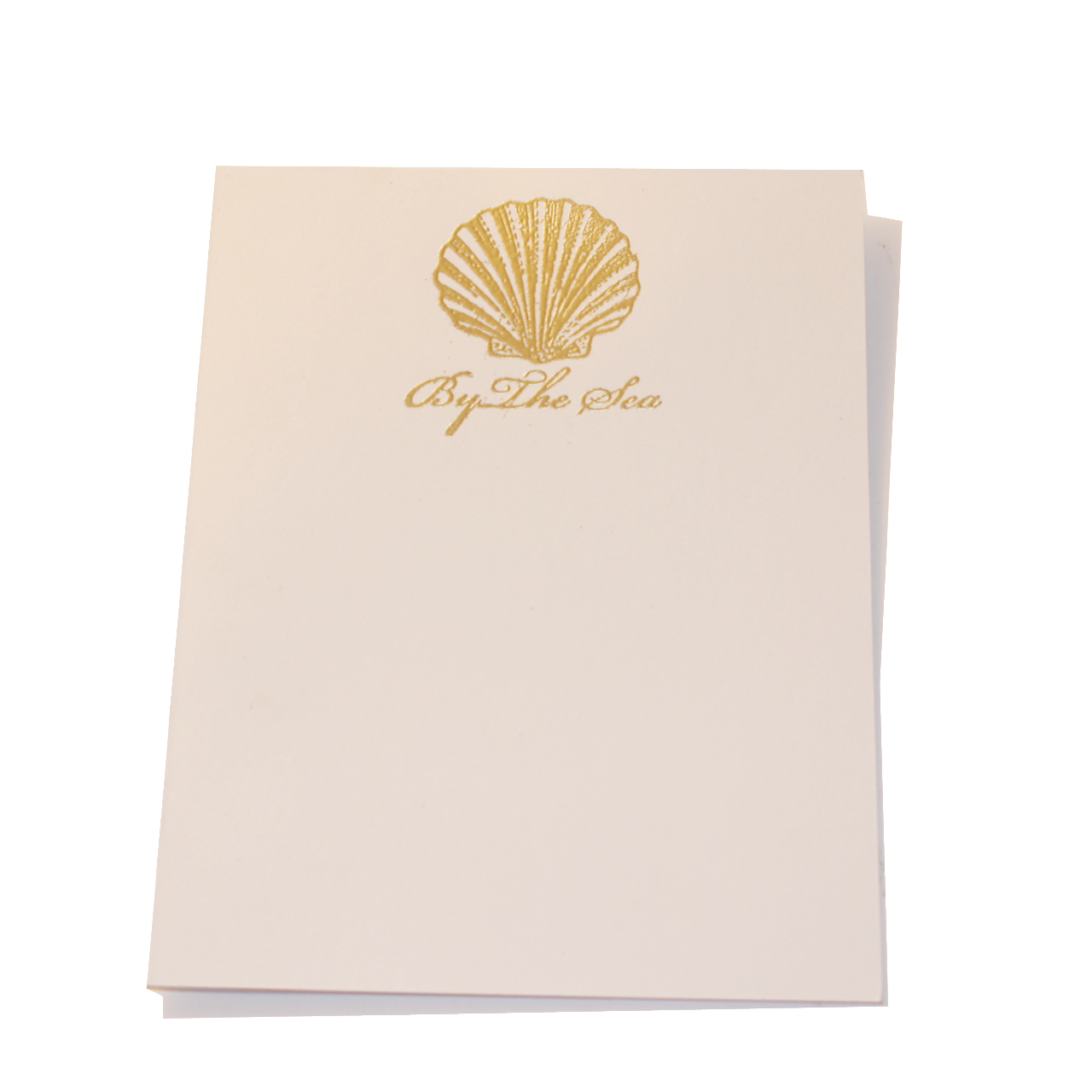 graphic about Embossed Stationery identified as Gold Embossed Seas Stationery
