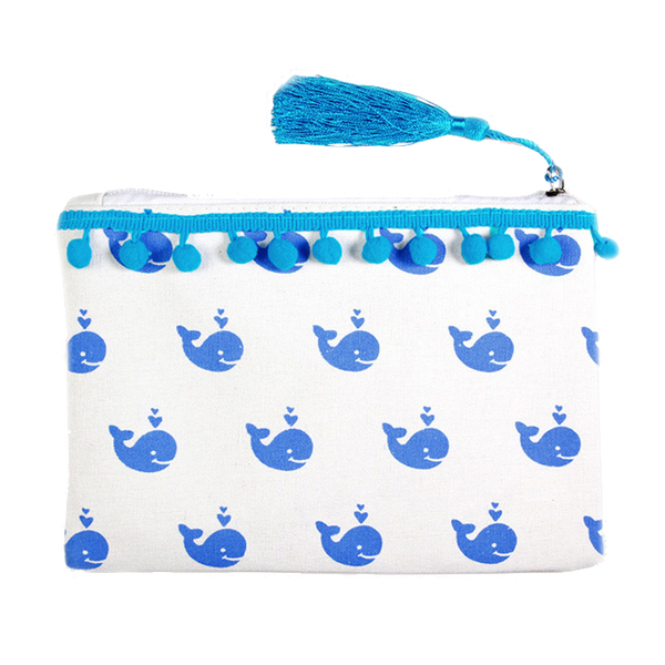 Whale Zip Pouch