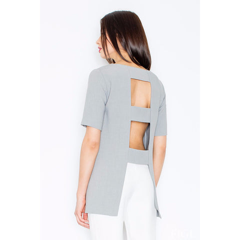 Grey Top With Openings At The Back Laveliq LAVELIQ