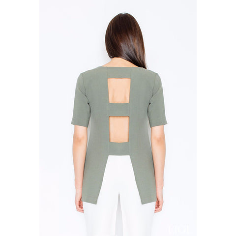 Dark Green Top With Openings At The Back Laveliq LAVELIQ