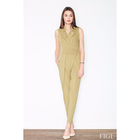 Light Green Elegant Sleeveless Jumpsuit Laveliq LAVELIQ
