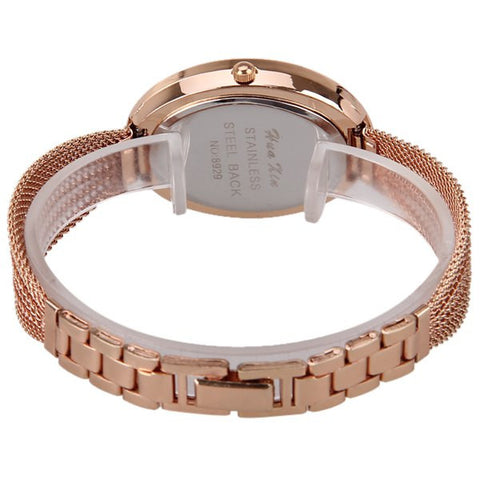 Hua Xin Watch With Net Steel Watch Band And Two Hands Oval Dial For Women LAVELIQ