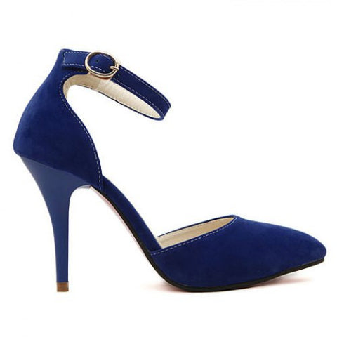 Elegant Belt And Suede Design Women'S Pumps LAVELIQ