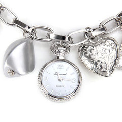 Stylish Quartz Watch With Round Dial And Heart Butterfly Chain Watch Band For Women LAVELIQ - LAVELIQ - 1