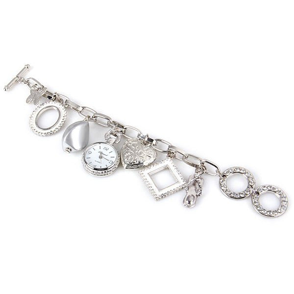 Stylish Quartz Watch With Round Dial And Heart Butterfly Chain Watch Band For Women LAVELIQ - LAVELIQ - 2