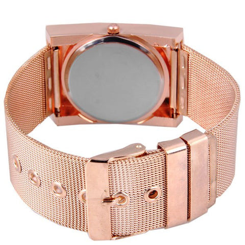 Stylish Quartz Watch With Analog Indicate And Steel Mesh Strap Watchband For Women LAVELIQ