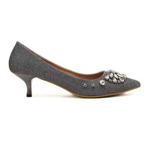 Sexy Gauze And Rhinestones Design Women'S Pumps LAVELIQ