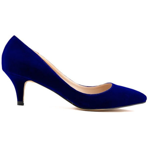 Trendy Suede And Pointed Toe Design Women'S Pumps LAVELIQ