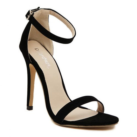 Laconic Suede And Stiletto Design Women'S Sandals LAVELIQ