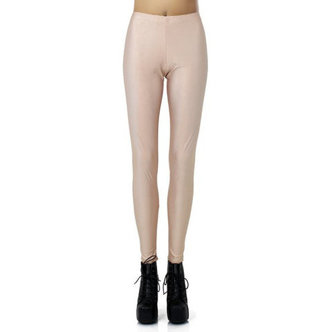Stylish Elastic Waist Slimming Solid Color Women'S Leggings LAVELIQ