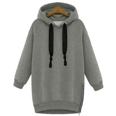 Stylish Hooded Long Sleeve Zippered Women'S Hoodie LAVELIQ - LAVELIQ - 2