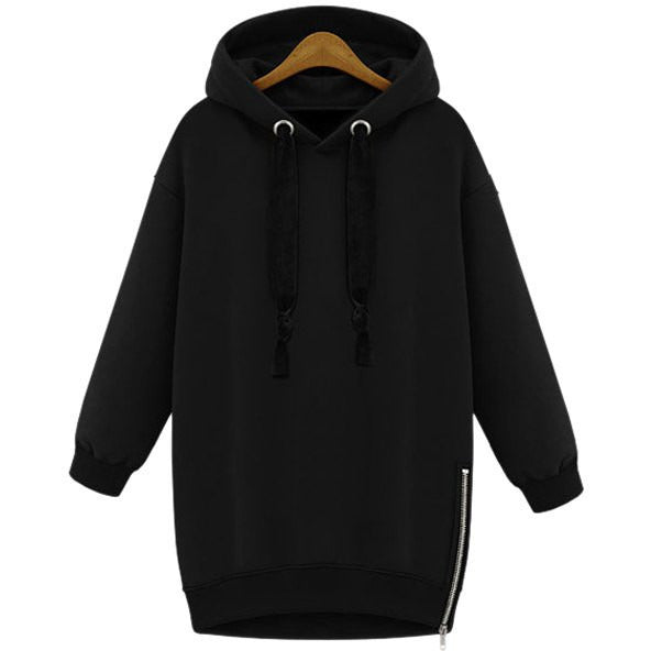 Stylish Hooded Long Sleeve Zippered Women'S Hoodie LAVELIQ - LAVELIQ - 1