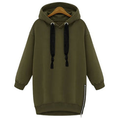 Stylish Hooded Long Sleeve Zippered Women'S Hoodie LAVELIQ - LAVELIQ - 3