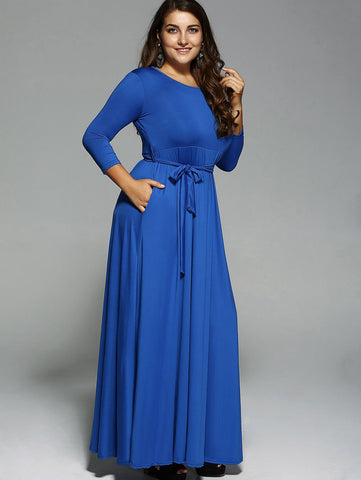 Long Sleeves Maxi Dress LAVELIQ