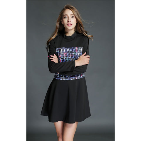 Fashion Long Sleeve Shirt + Short Skirt LAVELIQ