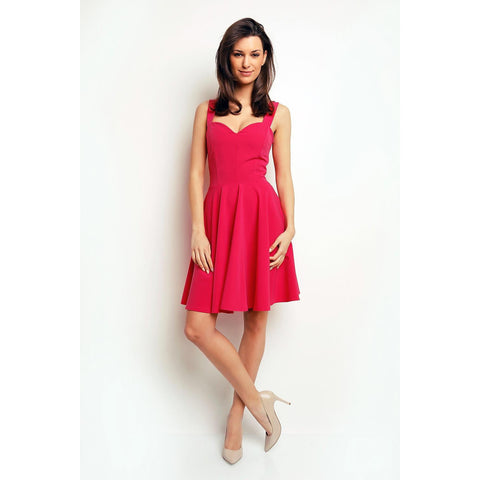 Pink Classic Coctail Dress For Women LAVELIQ